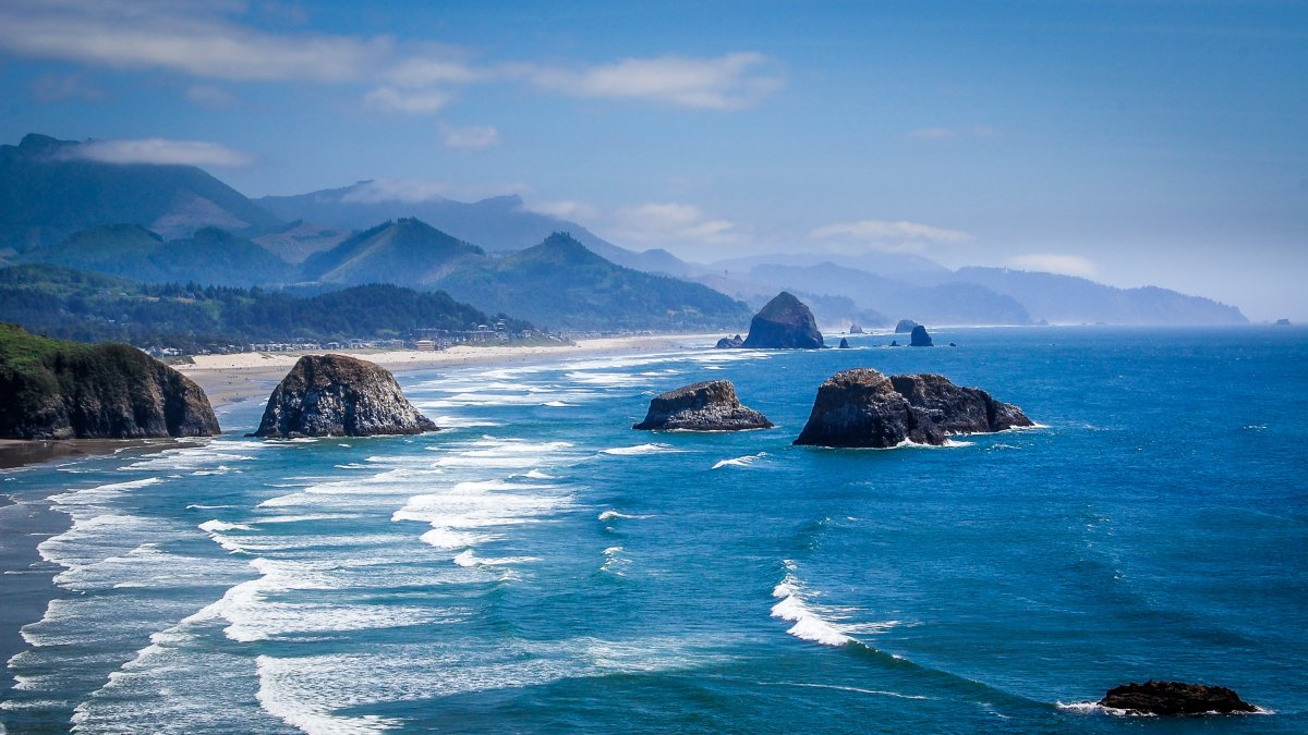 Pacific northwest coast in Oregon