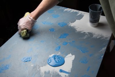 Painting tabletops for food photography
