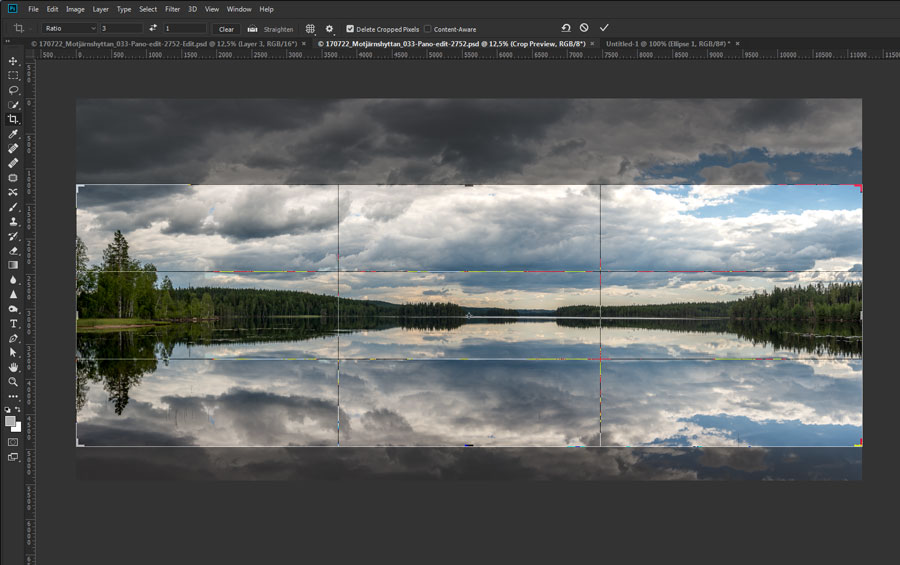 Instagram panorama cropping photoshop